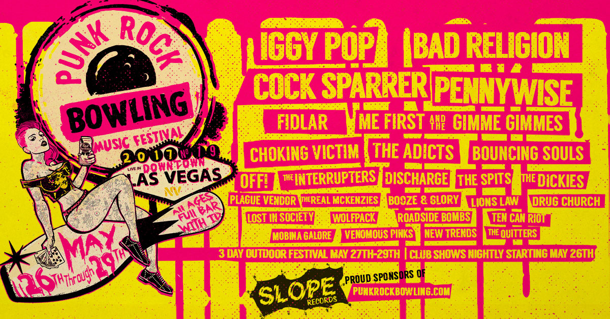 Slope Records Sponsoring Punk Rock Bowling 2017