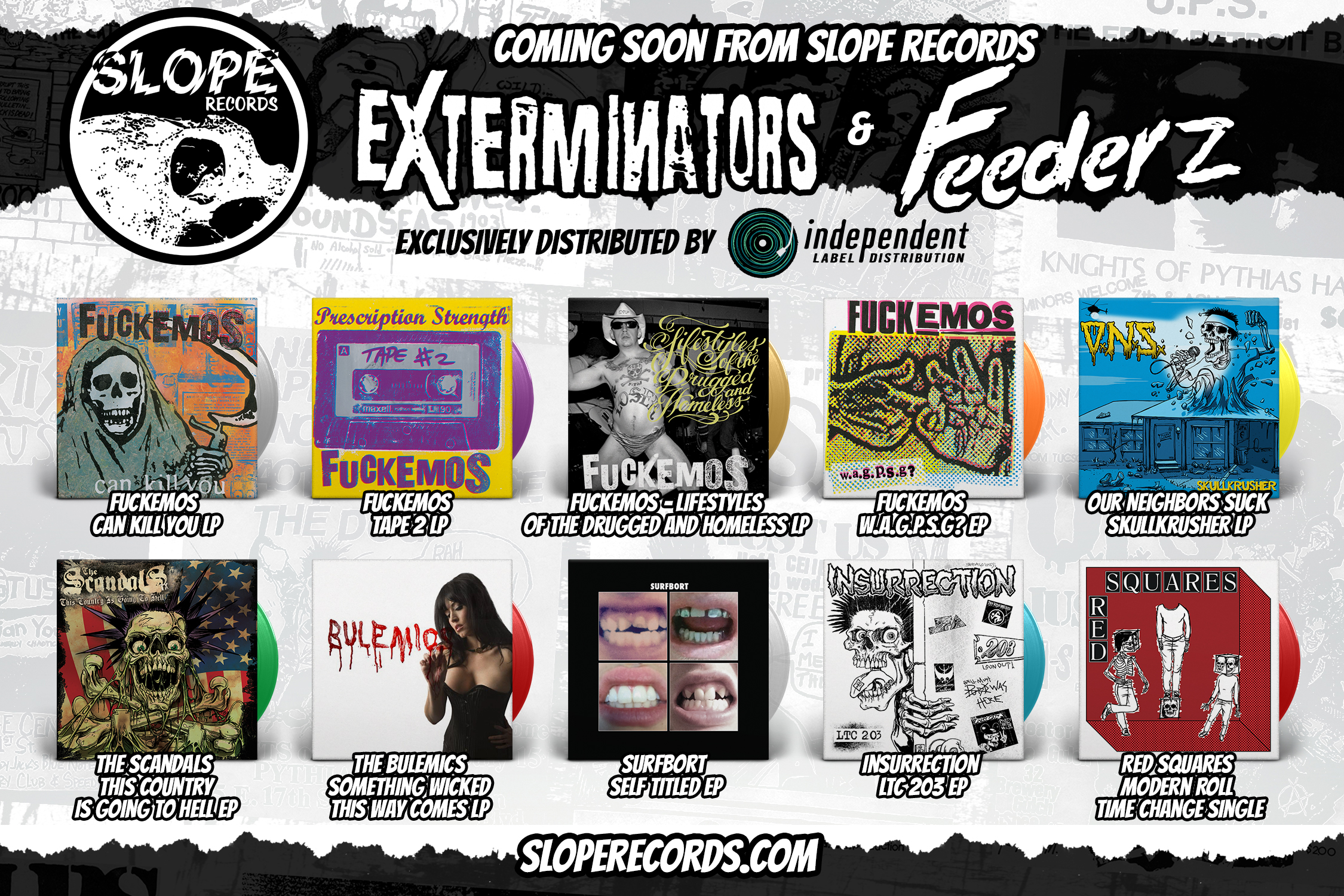 Slope Records ad in the July Issues of Maximum Rocknroll and Razorcake